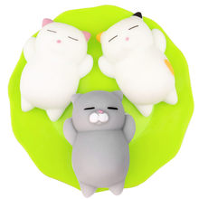 Mini Leuke Squishy Cat Antistress Bal Squeeze Stijgende Speelgoed Afreageren Soft Sticky Stress Relief Speelgoed Grappige Gift 3pcs L1216(China)