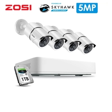 ZOSI 8CH H.265+ HD 5.0MP Security Camera System with 4 x 5MP HD Outdoor/ Indoor CCTV Camera Home VideoSurveillance Kit