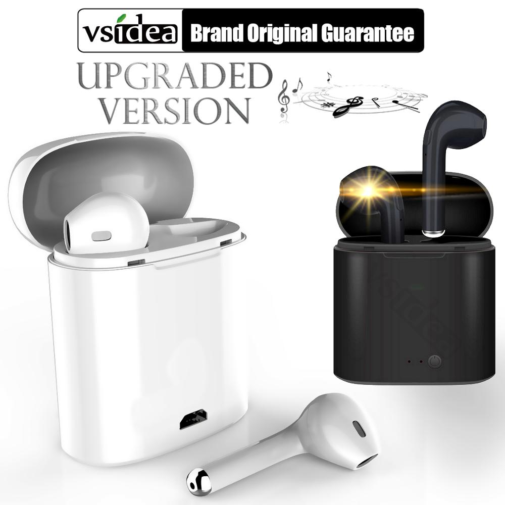 i7s TWS Wireless earphone in-ear Bluetooth binaural Earbuds Headset With Charging Box Mic All Bluetooth tablet For Iphone HUAWE image