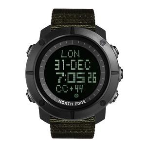 Image 2 - NORTH EDGE hommes sport montre numérique heures pour la course à pied natation armée militaire montres résistant à leau 50m chronomètre minuteur
