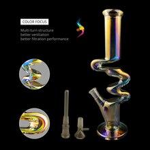 High Quality Multicolor W-type Glass Pipe Set Borosilicate Luminous Percolator Christmas Gifts