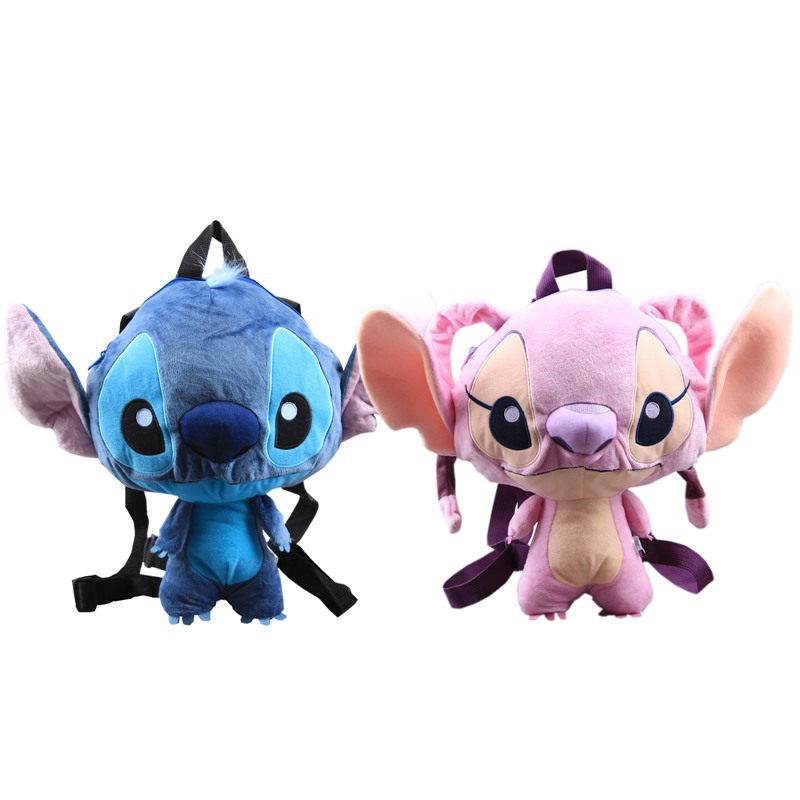 2019 New Lilo Stitch Plush Dolls Backpack Cute Blue Pink Stitch Angel Peluche Schoolbag Gift for Baby Kids Boys Girls Children (6)