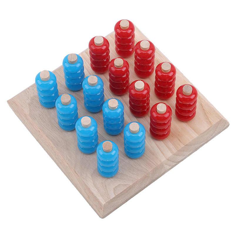 Nuevos niños ajedrez tridimensional desarrollo madera ajedrez fuerza tablero espacio pensamiento juguetes educativos para niños
