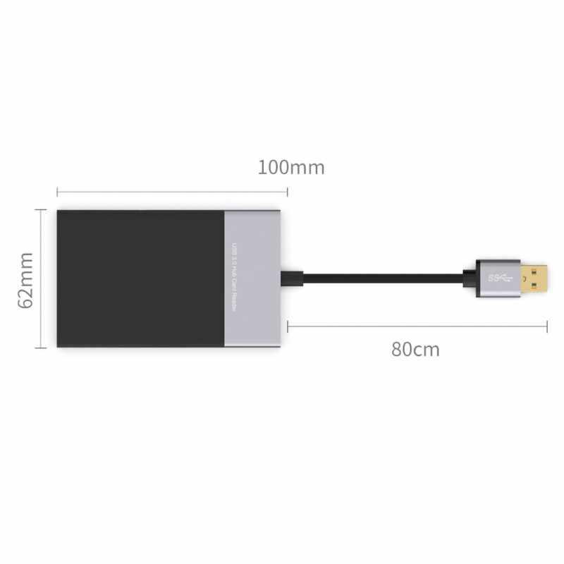 جديد SD قارئ بطاقات USB 3.0 CF بطاقة الذاكرة محول Hub قراءة بطاقات في وقت واحد ل SD/TF/CF/XQD