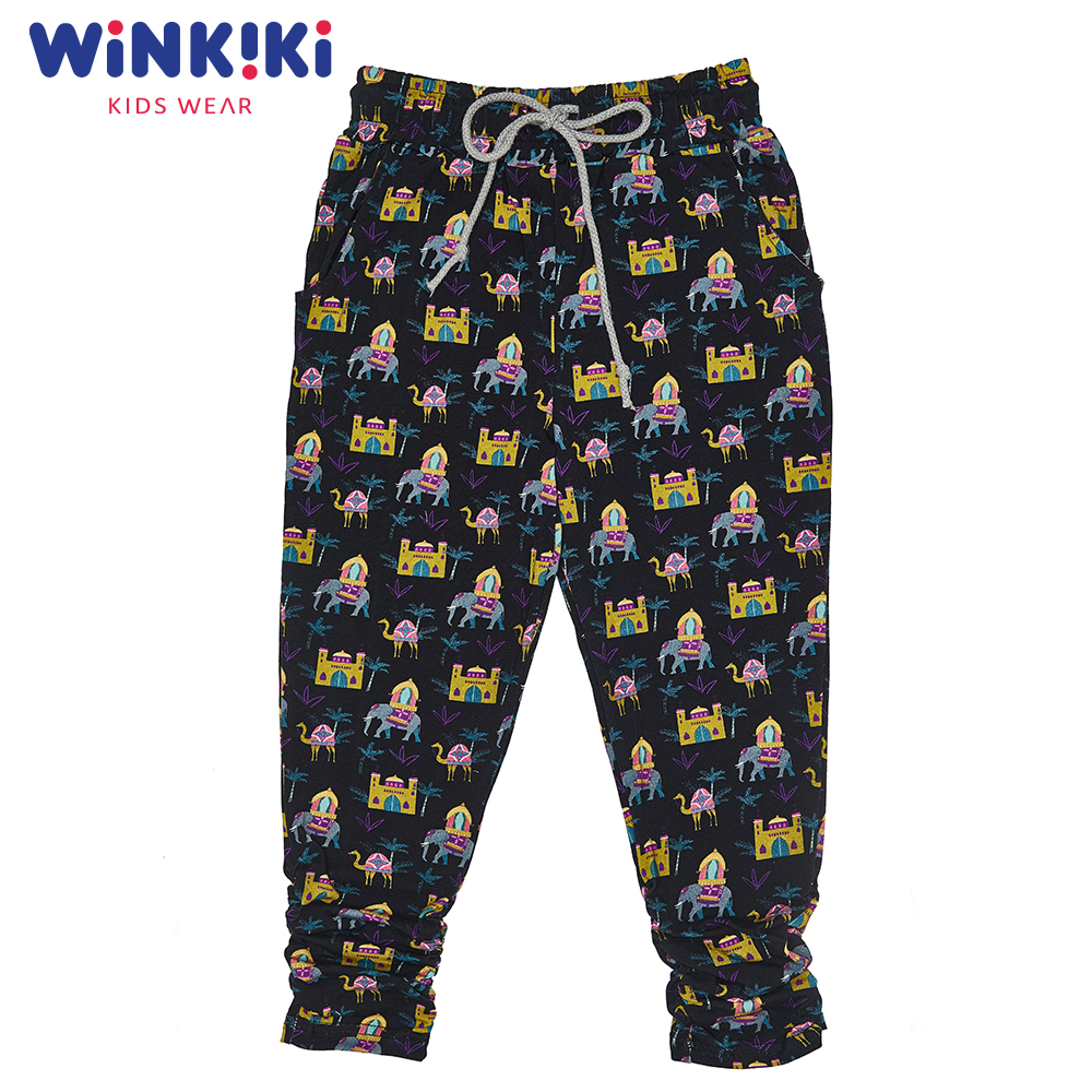 Pants & Capris WINKIKI WKG91358 baby clothes for boys and girls pants Cotton Black Girls