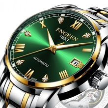 Mens Watches Mechanical-Watch Boys Automatic Strap-Color Business Stainless-Steel Waterproof