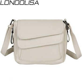 LONOOLISA White Beach Bag Ladies Shoulder Crossbody Bags For Women 2019 Leather Luxury Handbags Women Bags Designer Sac A Main - DISCOUNT ITEM  40% OFF All Category