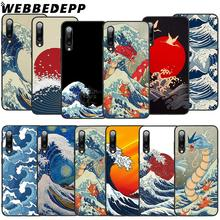 WEBBEDEPP Japanese wave art Soft TPU Case for Xiaomi Mi 6 8 A2 Lite 6 9 A1 Mix 2s Max 3 F1 9T A3 Pro CC9E Cover webbedepp yin yang koi fish soft tpu case for xiaomi mi 6 8 a2 lite 6 9 a1 mix 2s max 3 f1 9t a3 pro cc9e cover