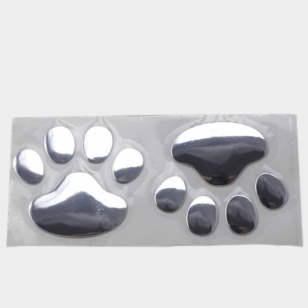 Naklejki samochodowe 3D pies niedźwiedź ślady Sgaoe chromowany znaczek godło naklejki samochodowe naklejka akcesoria samochodowe do stylizacji
