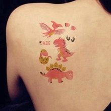 Temporary Tattoo Stickers Hands-Flash Art Body-Face Kids New Gift Cartoon Colorful Dinosaur