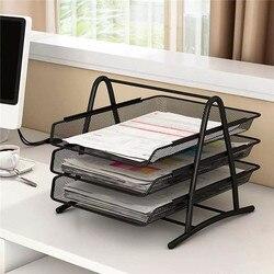 Office A4 Paper Organizer Document File Letter Book Pen Brochure Filling Tray Rack Shelf Carrier Metal Wire Mesh Storage Holder