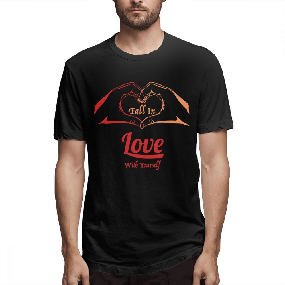 100 cotton I Want To Fall Love With Myslef Self Respect print casual men 39 s o neck t shirts fashion Men 39 s Short Sleeve T shirt in T Shirts from Men 39 s Clothing