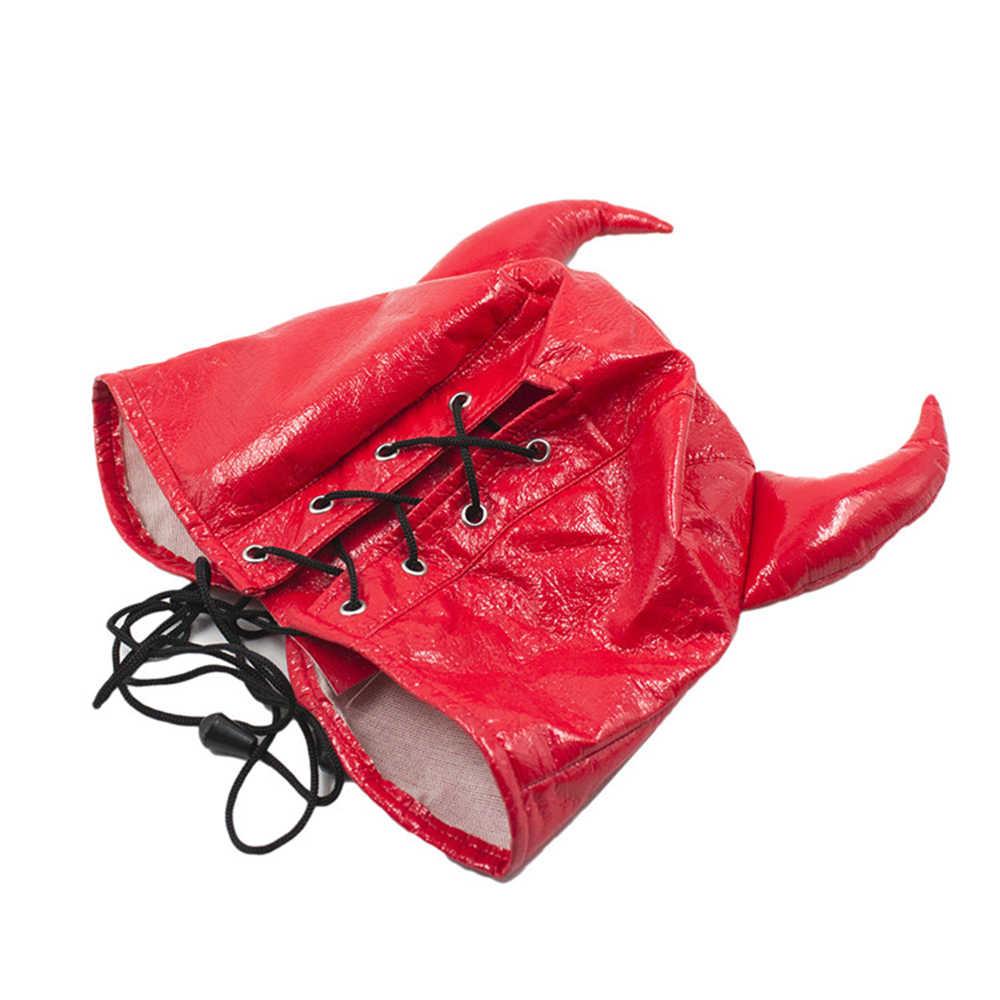 SM кожаный мягкий капюшон с повязкой на глаза, подголовники жгут маска, БДСМ бондаж Gimp, маска на Хеллоуин для косплея секс-игрушки для пар