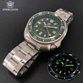SteelDive 1970 Abalone 200m zegarki do nurkowania męski zegarek mechaniczny męski zegarek mechaniczny es C3 Luminous NH35 Sapphire zegarek kryształowy mężczyzn tanie i dobre opinie 20Bar Składane zapięcie z bezpieczeństwem SPORT Nurkowanie Mechaniczna Ręka Wiatr Automatyczne self-wiatr 20cm STAINLESS STEEL