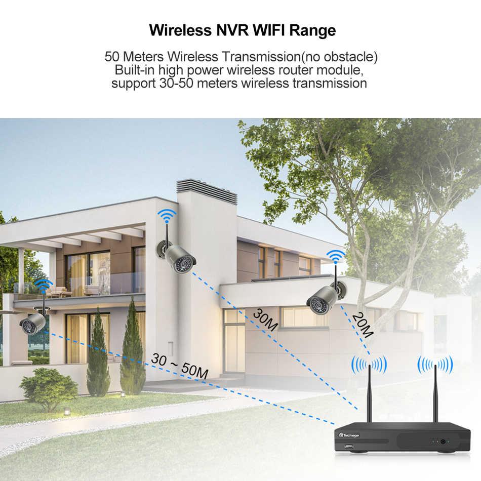Techage 8CH 1080P bezprzewodowy NVR kamera IP CCTV System 2MP zapis Audio kamera Wifi na zewnątrz IR CUT bezpieczeństwa wideo zestaw do nadzorowania