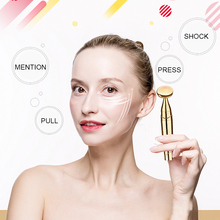 Face Massager Vibration Roller Facial Massage Anti Wrinkle PulseSlimming Face Lift Tightening Wrinkle Bar Tool facial massage roller double head slimming face massager lifting tool face anti wrinkle removal massage roller