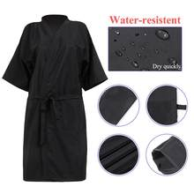 Wasserdicht Salon Client Kleid Robe V Neck SPA Hotel Barber Gast Kleidung Friseur Cape Für Salon SPA Barber Hairstylist(China)
