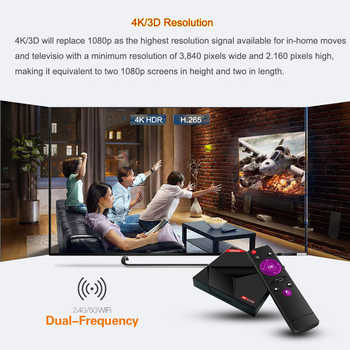 4GB 64GB Android 9.0 TV Box X88 Max Plus Smart TV Box Rockchip Quad-Core 64bit 2.4G/5GHz Dual WiFi 4K Google Play Store