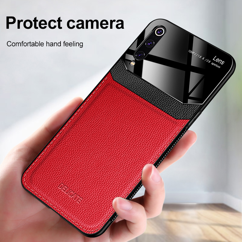 For <font><b>Xiaomi</b></font> <font><b>Mi</b></font> <font><b>9</b></font> Pro <font><b>Xiaomi</b></font> 9SE case Luxury Shockproof soft bumper leather case For <font><b>Xiaomi</b></font> 8 back cover Mi8 Lite case fundas <font><b>capa</b></font> image