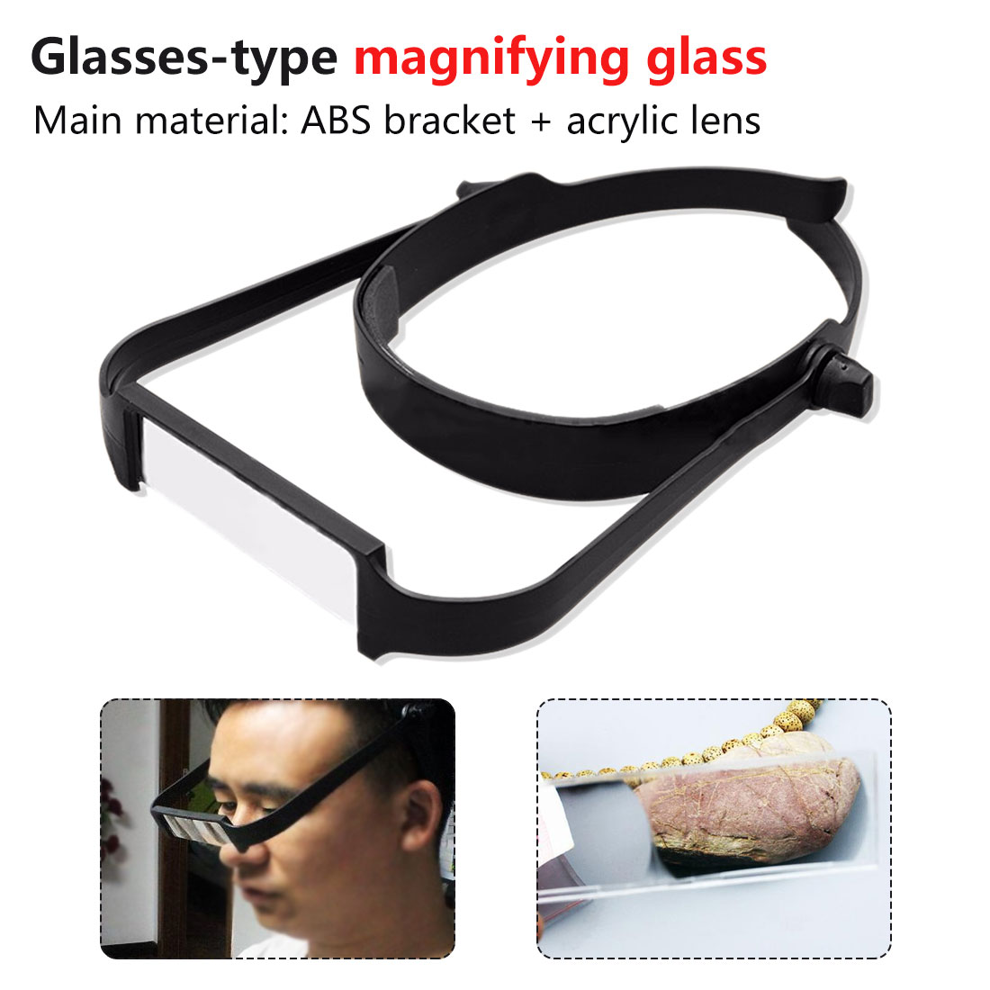 Hot!1.6x 2.0x 2.5x 3.5x Head Headband Replaceable Lens Loupe Magnifier Magnify Glass Lens loupe made of optical glass