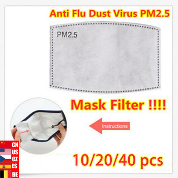 10/20/40pcs/Lot PM2.5 Filter paper Anti Haze mouth Mask anti dust mask Filter paper Health Care