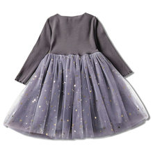Girls Dress Knitting Atumn Winter Long Sleeve Dresses Lace Bling Ball Gown Princess Dresses Baby Kid Girl Belle Vestido for 1-3Y(China)