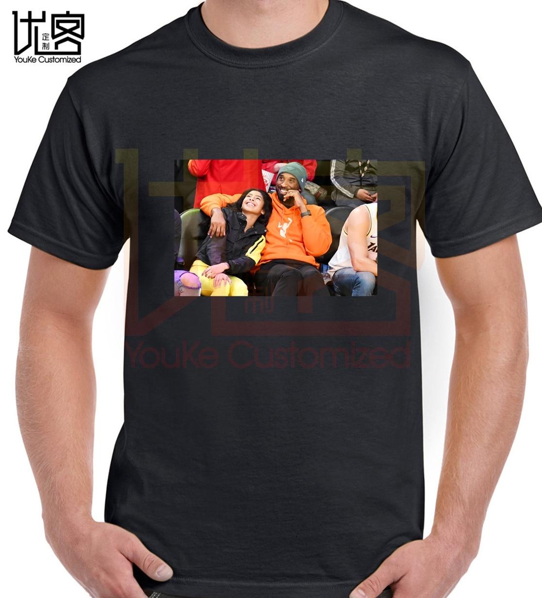 2020 Kobe Bryant and gigi Memorial T shirt men's women's new fashion Crewneck 100% cotton short sleeves printed t-shirt