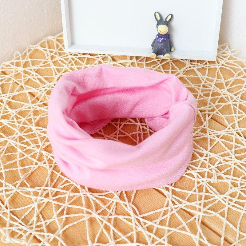 Милый хлопковый детский шарф, Детские однотонные осенне-зимние теплые шарфы с принтом, шарф с круглым вырезом для мальчиков и девочек - Цвет: 10