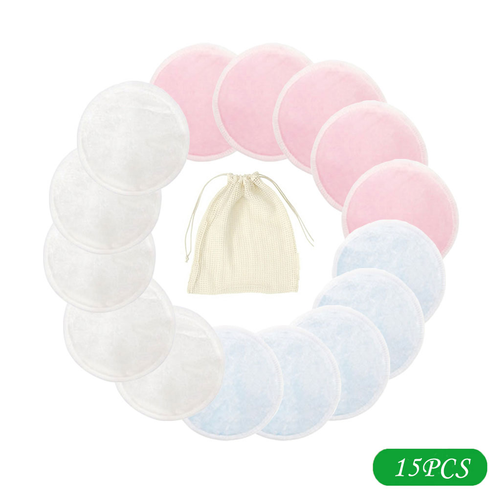 10/15/20pcs Reusable Bamboo Cotton Pads Make Up Facial Remover Cotton Pads Face Cleaner And Eyes Make Up Remover Pads Zero Waste