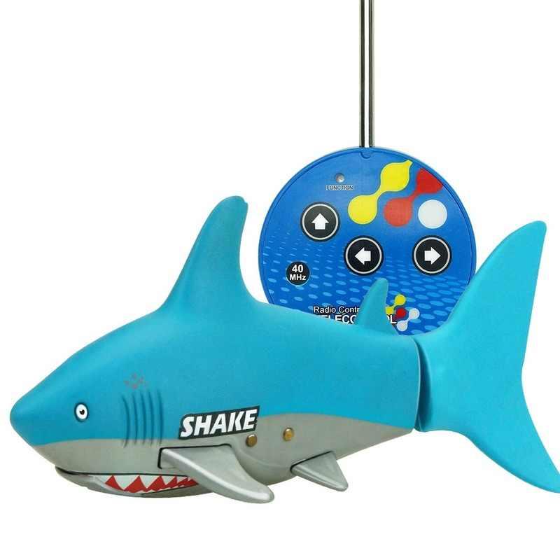 Zabawki wodne dla dzieci zabawki modele zdalnie sterowane zabawki rekina pływanie powietrzem rekin Fish Tank zabawki roboty elektryczne zabawki