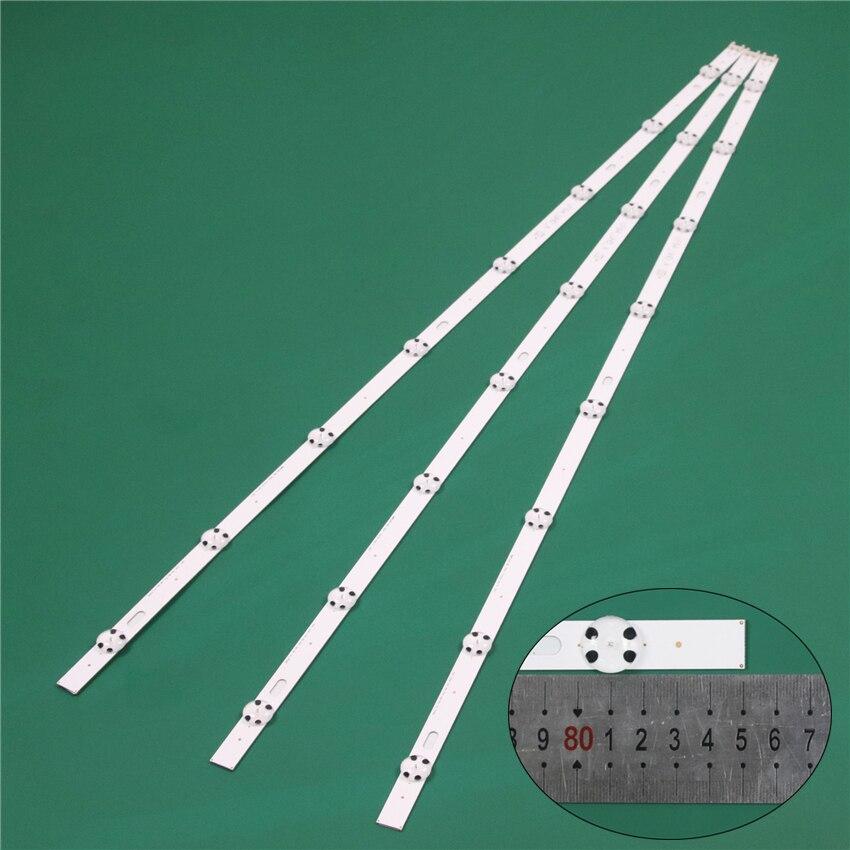 850mm LED Bands For LG 43UH6030 43UH603V 43UH6100 43UH6107 LED Bars Backlight Strip Line Ruler Direct 43inch UHD 1Bar 24EA Type