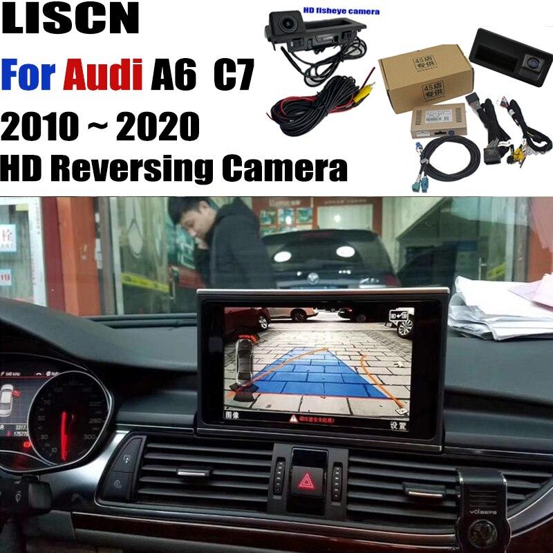 Задняя камера для Audi A6 c7 RMC mmi 2009 ~ 2020, резервный адаптер интерфейса камеры, оригинальная обновленная декодер экрана