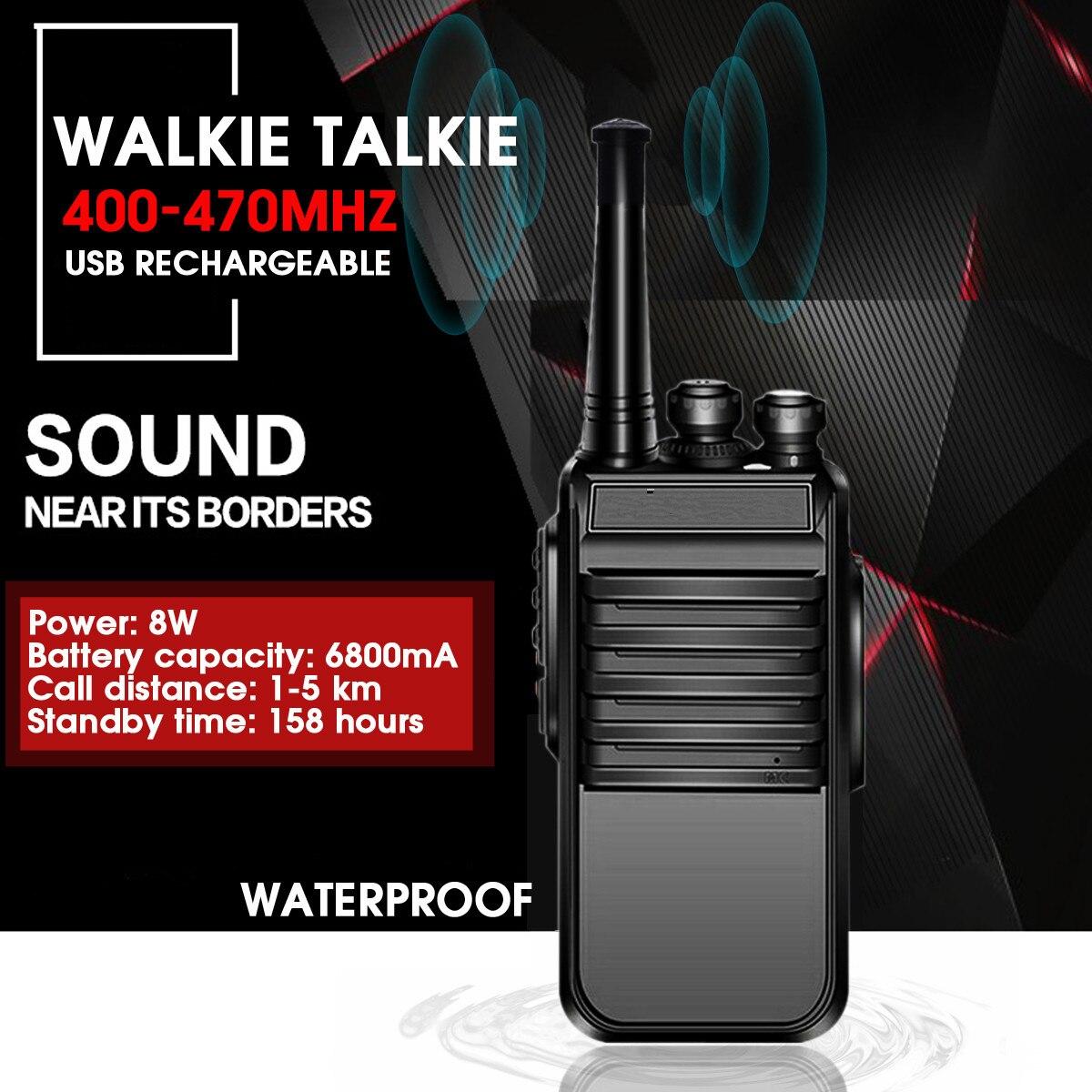 Baofeng E50 400-470MHZ Walkie Talkie Professional Radio Station Transceiver 8W Portable Radio 5km Talk-Range 6800mah