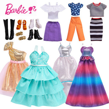 New Original Clothes for Barbie Doll Toys Girls Fashion Barbie Clothes for Doll  Accessories Barbie Dress Baby Toy Doll Shoes e ting 1 6 fashion doll clothes western style dress lace wedding evening party girls suit hat veil accessories for barbie doll