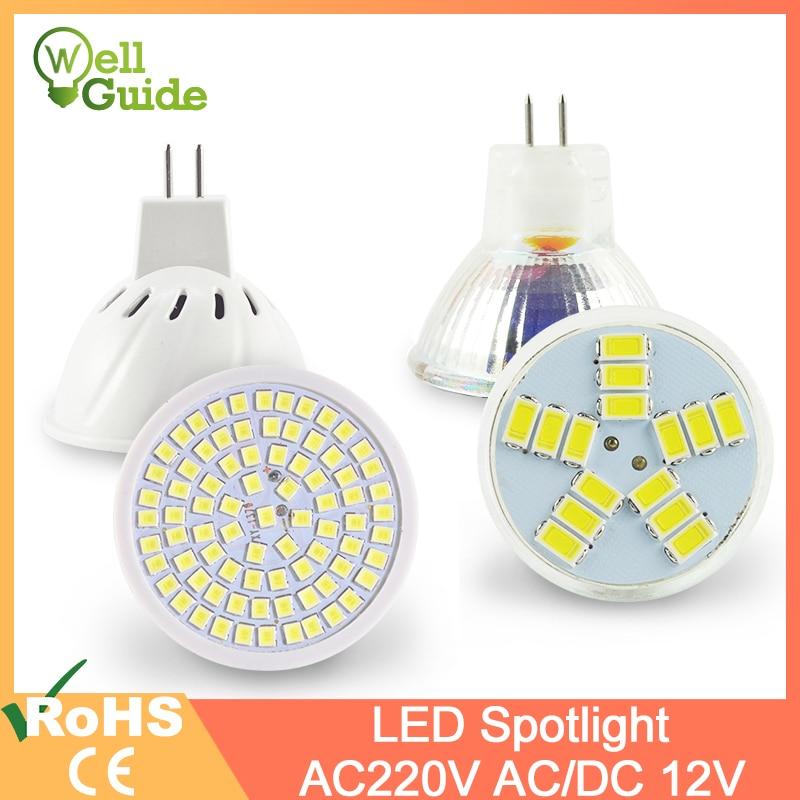 MR16 LED Spotlight MR11 6W SMD 2835 AC/DC 12V 220V 240V Bulb LED Lampada Spot Light Decoration Ampoule Warm White Cold White