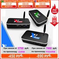 Ugoos X3 Pro 4GB RAM 32GB DDR4 Amlogic S905X3 Dispositivo de TV inteligente Android 9,0 Dual WiFi 1000M 4K X3 cubo 2G 16G X3 Plus 64G Set Top Box