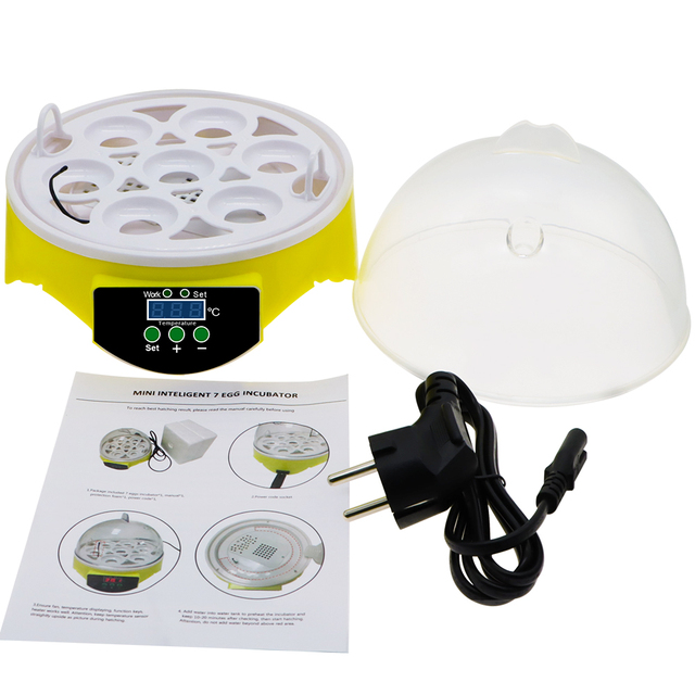 7 Egg Automatic Incubator Poultry Hatchery Machine Brooder Digital Chicken Duck Bird Temperature Control Chicken Hatcher 30% off 5
