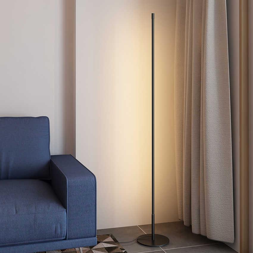 Nordic Minimalistischen Boden Lampe LED Dimmbare Boden Leuchtet Moderne Wohnzimmer Schlafzimmer Sofa Stehend Lampe Indoor Decor Leuchten