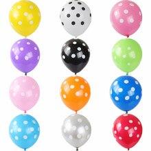 10/20 pçs 12 Polegada novo estilo doce cor ponto onda látex balão feliz aniversário festa de casamento decoração suprimentos brinquedo globos