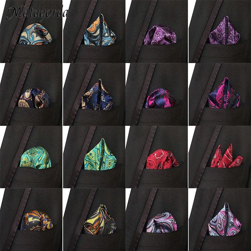 Luxury Man Hanky Pocket Square Handkerchief Silk Paisley Jacquard Woven Scarf 25CM Wedding Party Man Accessory Floral Tie Cravat