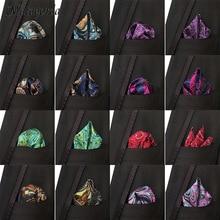 Роскошные мужчины платок карманный площадь платок шелковый Пейсли жаккарда сплетенные шарф 25СМ свадьба мужчины аксессуары галстук цветочный галстук