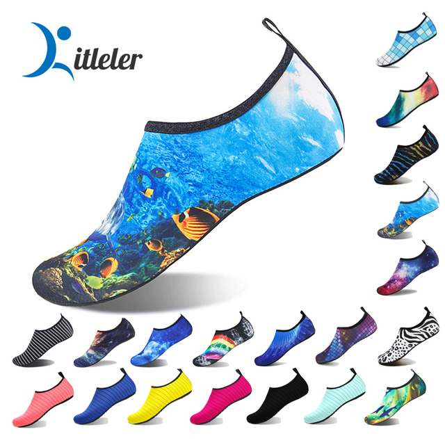 Outdoor Beach Shoes Unisex Quick Dry Soft Socks Seaside Sneaker Swmming Water Shoes Men Non-slip Upstream Aqua Footwear 35-48 1