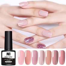 NEE JOLIE 8ml Pure Nail Gel Polish Soak Off UV Varnish Art Colorful Semi Permanent Design