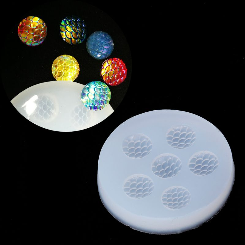 12mm Round Fish Scales Bead UV Resin Casting Mold Silicone Mold Jewelry Making