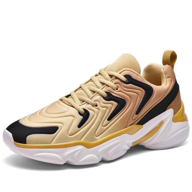 סתיו מעיל חדש למעלה נעליים יומיומיות באיכות גבוהה ונוח מותג גברים קל משקל לנשימה שטוח תחתית סניקרס