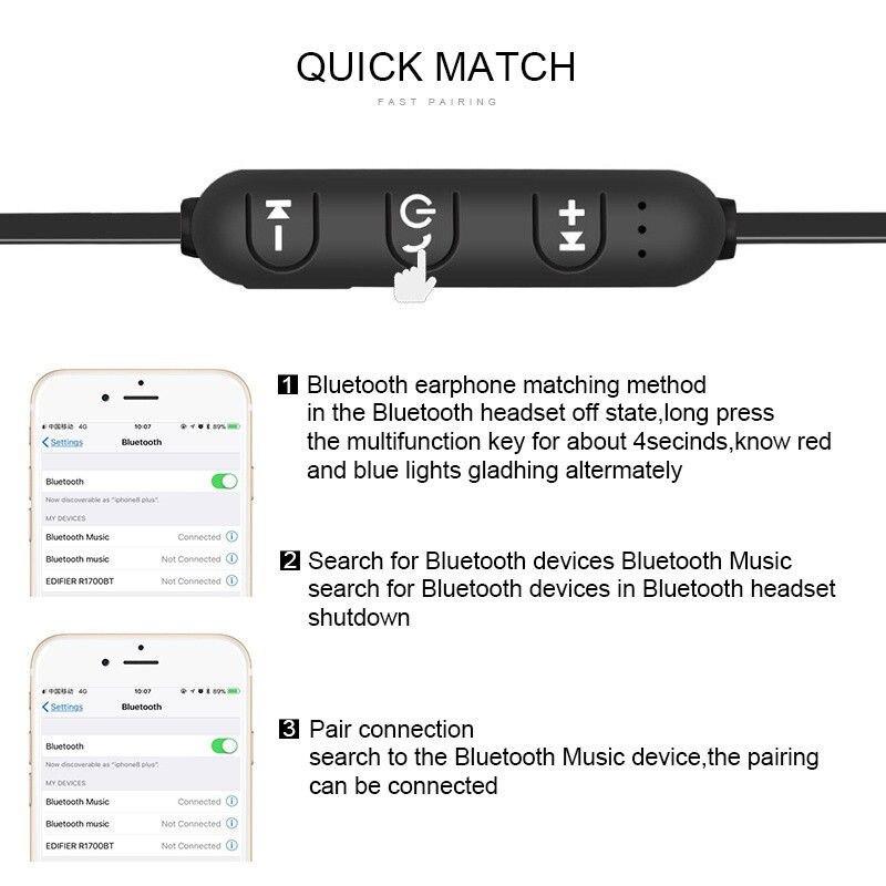 Écouteur magnétique bluetooth sans fil  XT11 pour iPhone, Android et Xiaomi 3
