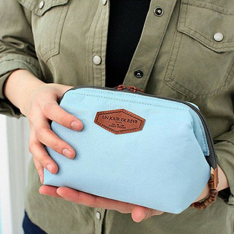 Women Travel Toiletry Make Up Cosmetic Pouch Bag Clutch Handbag Purses Case Cosmetic Mini Makeup Bag Organizer
