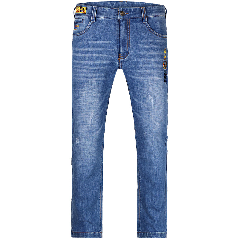 Brand Mens Jeans Fashion Casual Male Denim Embroidery Pants Skinny Thick Trousers Cotton Classic Straight Jeans Wear