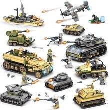 Ewellsold Bausteine 1061 stücke Military Serie Hubschrauber ww2 Figuren Waffe Gun Soldaten Tank Pädagogisches Spielzeug für Kinder
