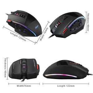 Image 5 - Zelotes C 13 Wired Gaming Mouse 13 Programming Keys Adjustable 10000DPI RGB Light Belt Built in Counterweight Mechanism mouse